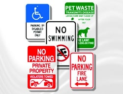 Category Image: Aluminum Signs