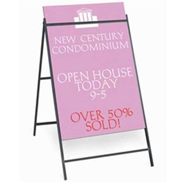 Metal Sign A Frame Real Estate Signs Outdoor Metal Sign